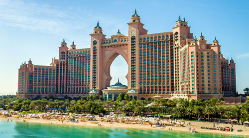 Atlantis hotel on the Palm, Jumeirah island, Dubai, UAE